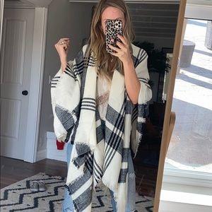 Nordstrom plaid shawl